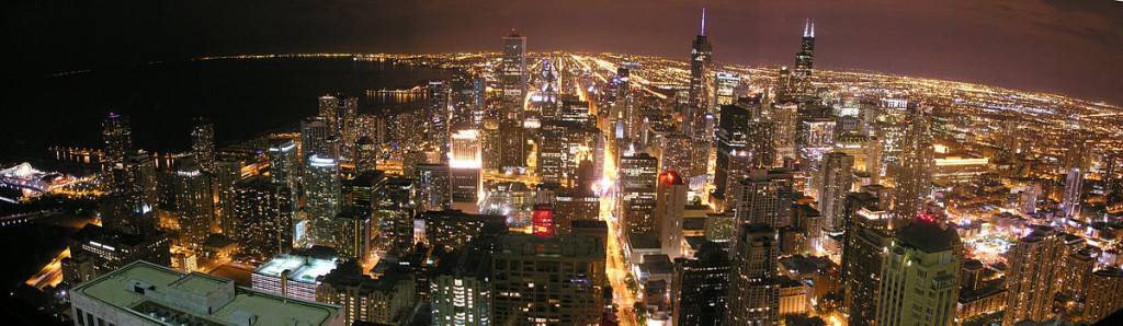 """""""One Summer Night in the Windy City"""" by Lol19 - Own work. Licensed under CC BY-SA 3.0"""